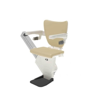 Shows a stairlift chair