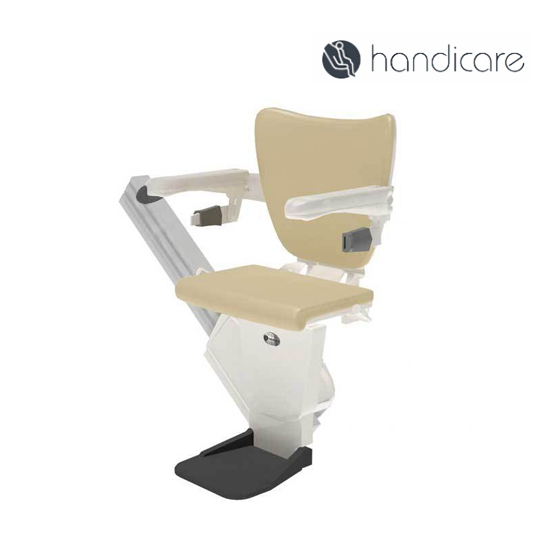 Shows straight stairlift