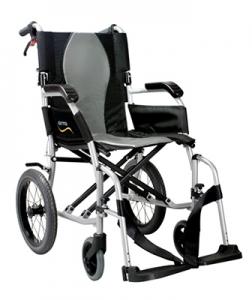 An example of a transit wheelchair, Karma Ergo Lite 2